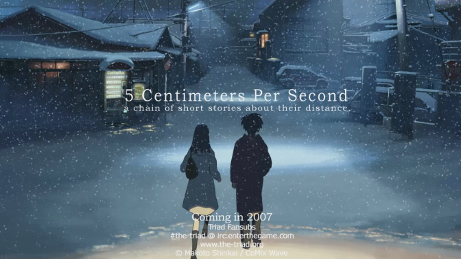5 Centimetres Per Second – Anime Review