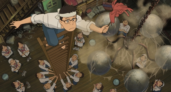 Image result for anime cleaning from up on poppy hill